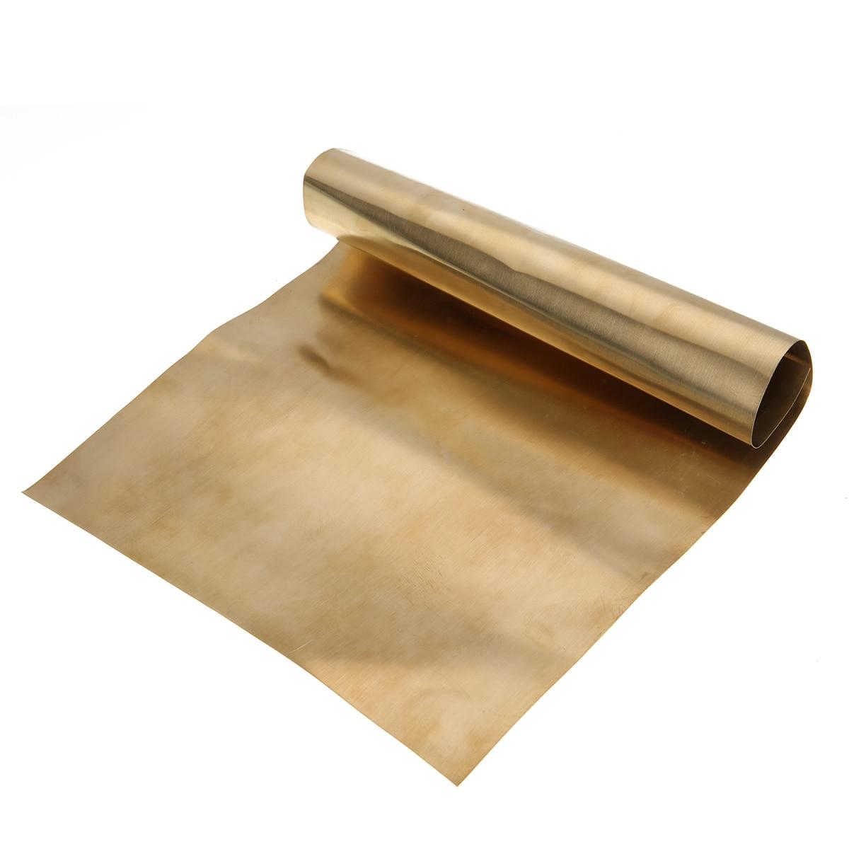 Neue 1pc Messing Blatt Messing Metall Dünne Blatt Folie Platte Shim mit Gute Bearbeitbarkeit Für Metallbearbeitung 0,2mm x 200mm x 300mm