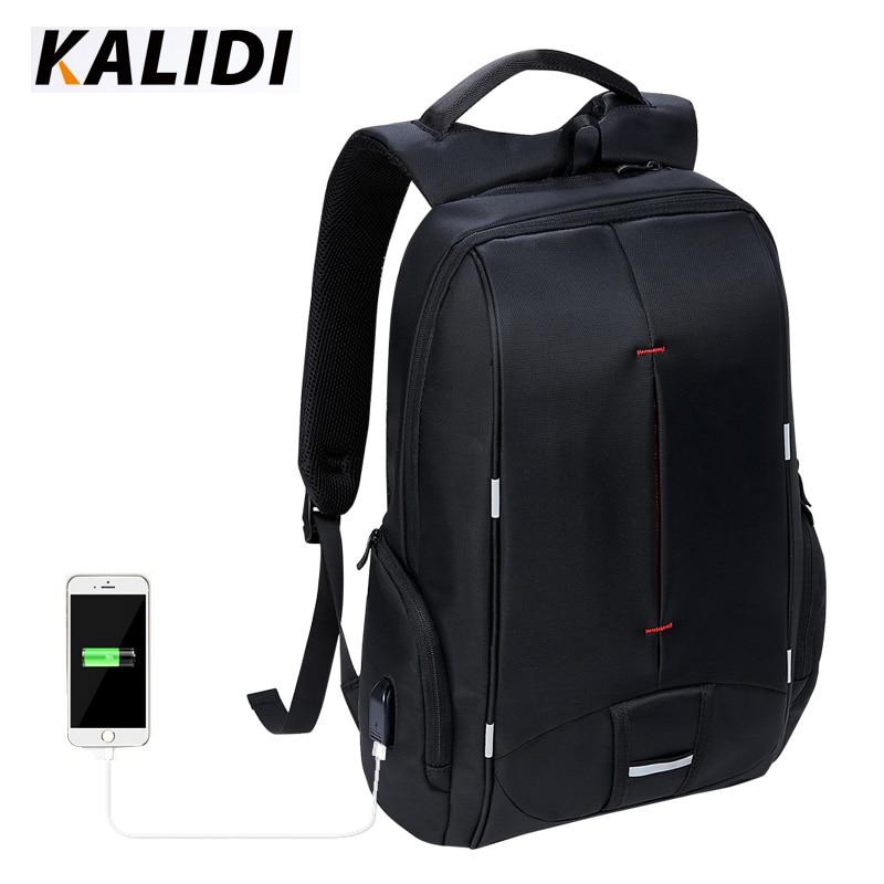 KALIDI bolsa impermeable para Laptop mochila 15,6-17,3 pulgadas portátil 15 -17 pulgadas Bolsa de ordenador USB para Macbook Air Pro Dell HP bolsa