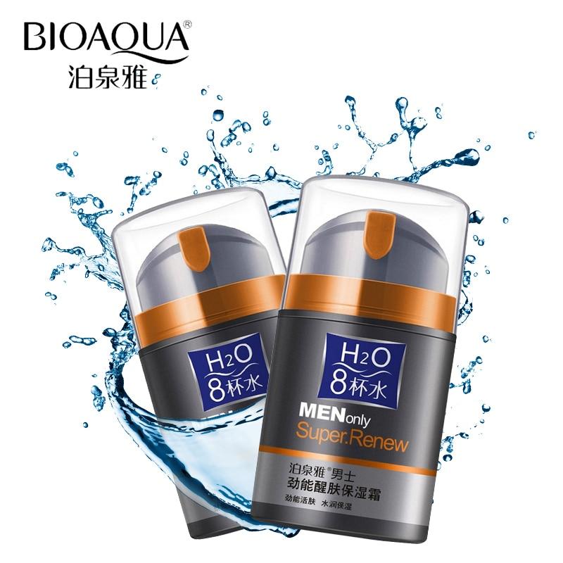 BIOAQUA marque soins de la peau hommes hydratant profond huile-contrôle visage crème hydratante Anti-âge Anti-rides blanchissant crème de jour 50g