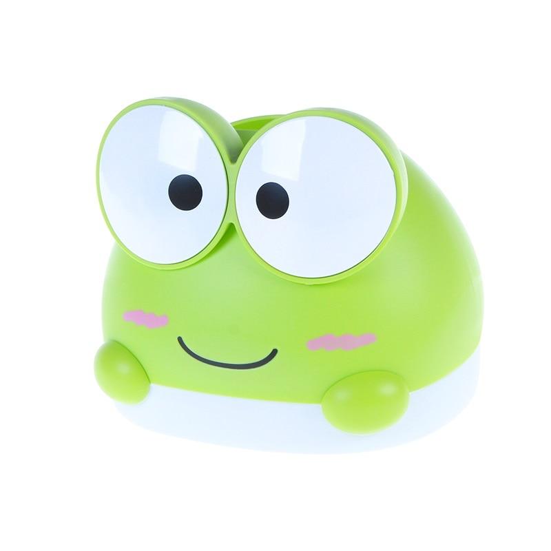 BF040 caja de papel de rana creativa de dibujos animados para el hogar, caja de pañuelos de papel para el hogar encantadora 14,7*16,5 cm