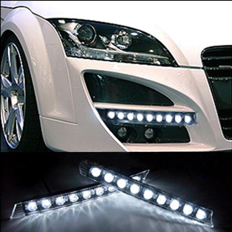 Desconto superior barato para audi a4 q7 a6 super preço de fábrica de alta potência cor branca 9 smd led drl daytime running luz nevoeiro lâmpadas