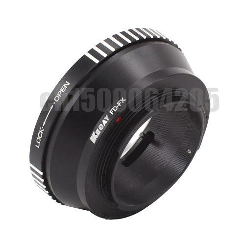KECAY FD-FX aleación de aluminio para anillo adaptador de lente de montaje Can & n FD para Fujifilm FX X montaje X F cámara X-Pro1-negro + plata