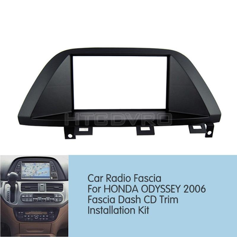 YMODVHT 173x98mm/178x100mm/178x102mm Car Radio Fascia for Honda Odyssey 2006 Stereo Panel Dash Mount Trim Installation Kit Frame