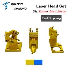 Série k40: conjunto de cabeça do laser do co2 12mm 18mm 20mm fl 50.8mm para 2030 4060 k40 co2 máquina de corte da gravura do laser