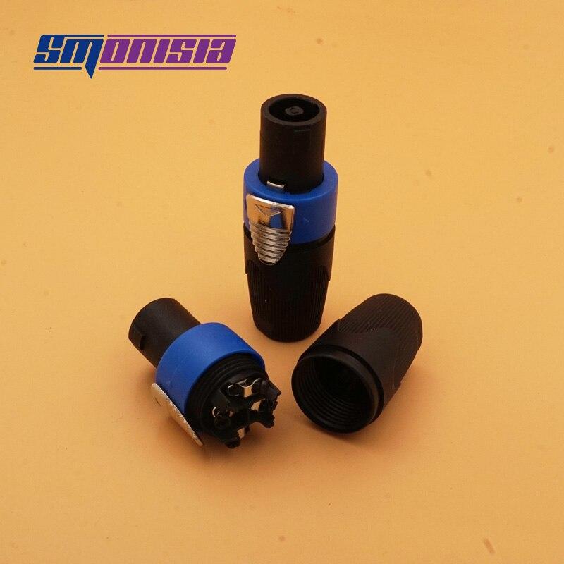 Smonisia 20 قطعة/الوحدة NL4FC الصوت 4 الأساسية المهنية المتكلم التوصيل الصوت كابل موصل عالية الجودة أوم موصل