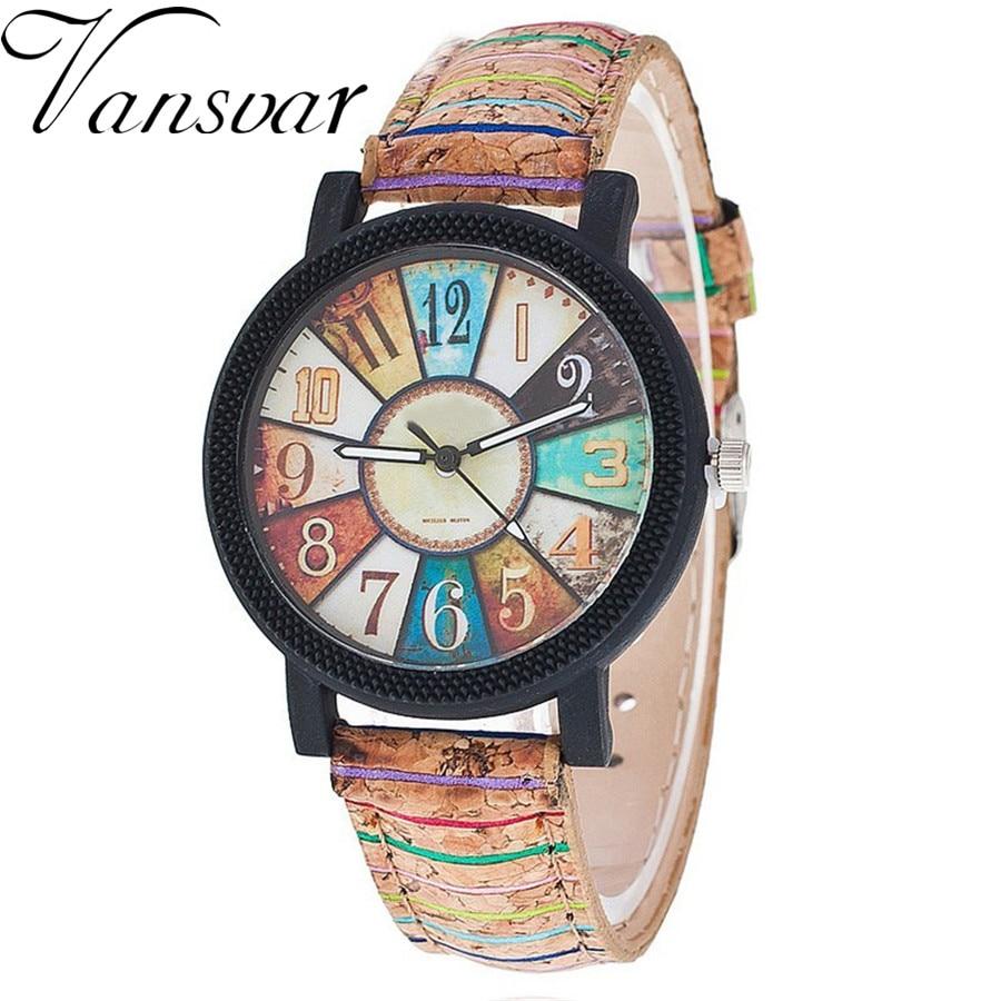 Vansvar nuevo de las mujeres de la moda reloj de pulsera de lujo reloj de cuarzo casual Relogio femenino regalo reloj caída 1903 envío