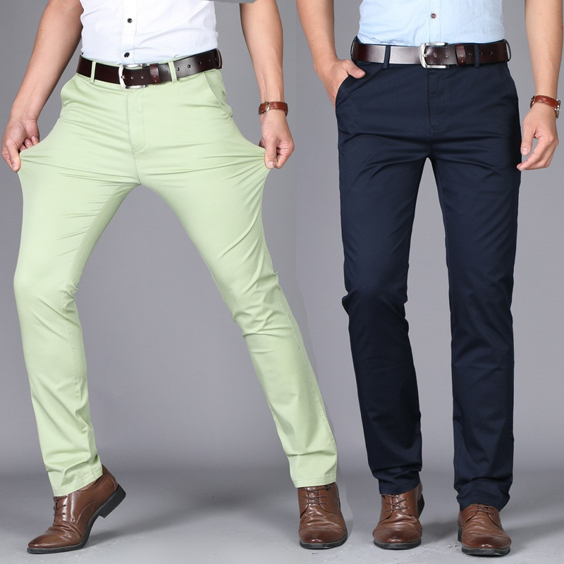men suit pants casual office high quality cotton trousers business pants for men wedding party dress social trousers Men's pants