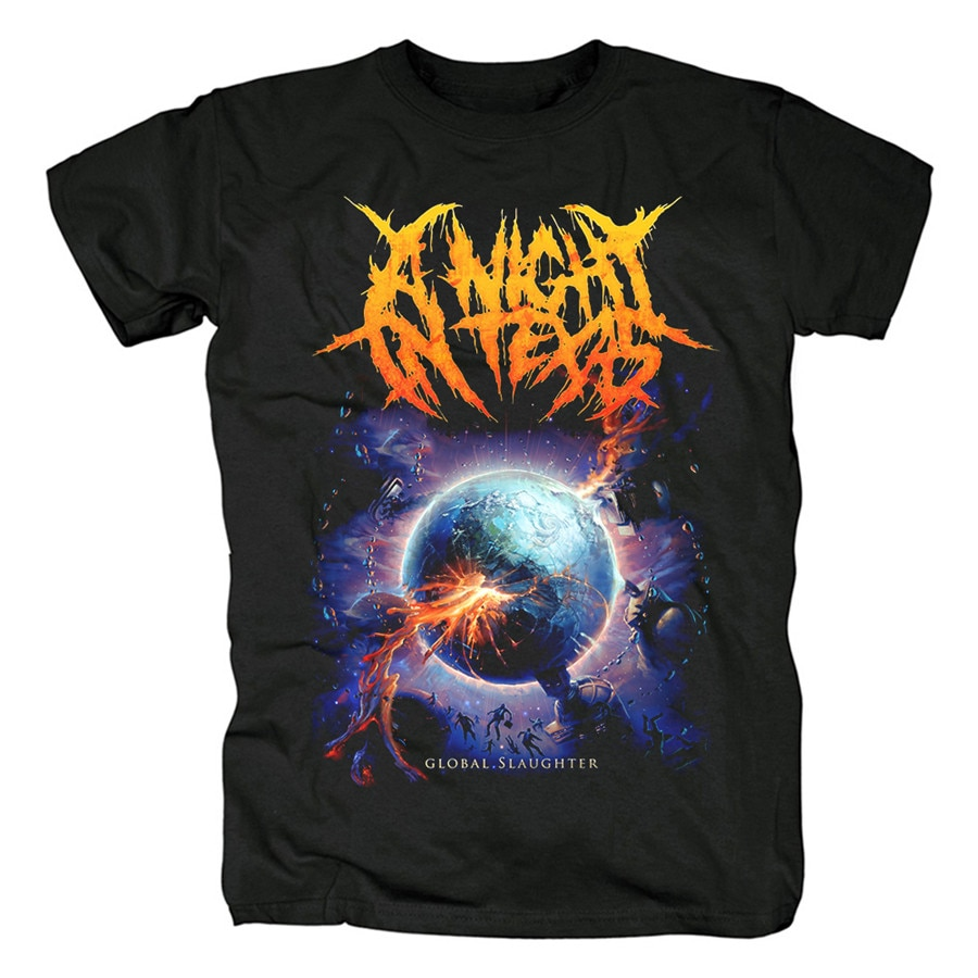 5 diseños una noche en texas Australia banda hombres mujeres camisa 3D heavy black Metal Punk fitness camiseta skateboard Planet tee