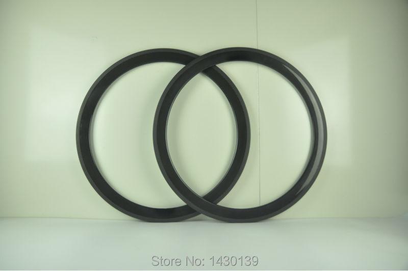 2Pcs New 700C 50mm clincher rim Road bike 3K UD 12K full carbon fibre bicycle wheels rims lightest 23 25mm width Free shipping