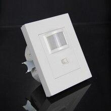 Offre spéciale capteur de mouvement pir mural 9 m max distance dinduction 110-240 V/AC capteur infrarouge 86-type commutateur