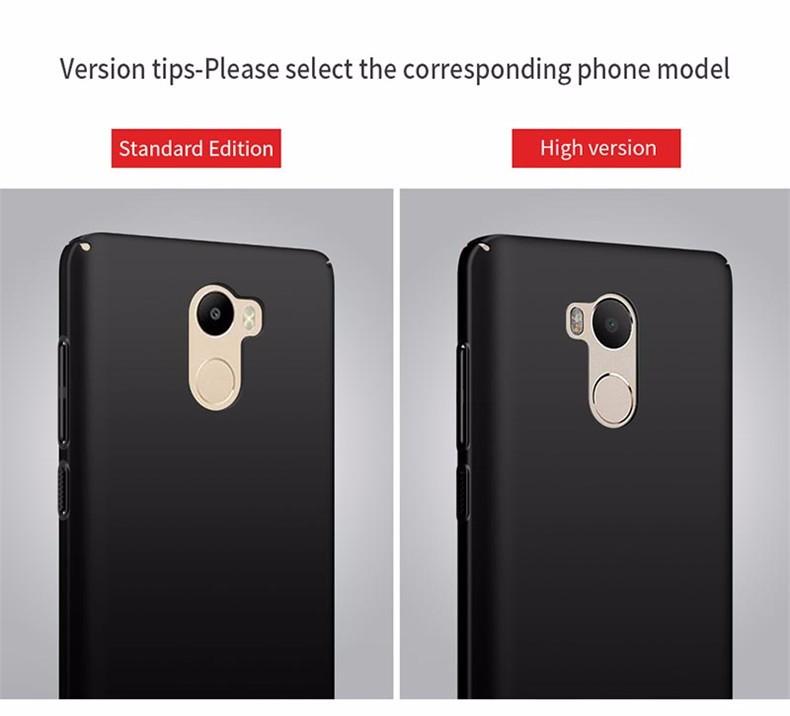Luksusowe mocno plecy plastikowe matte case dla xiaomi redmi 4 pro przypadki przypadku xiaomi redmi 4 pełna pokrywa pc telefon komórkowy pokrycie p35 12