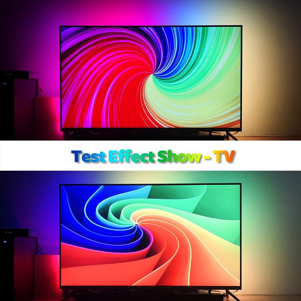DIY Ambient TV PC Dream Screen USB LED Strip HDTV Computer Monitor Backlight Addressable WS2812B LED Strip 1/2/3/4/5m Full Set