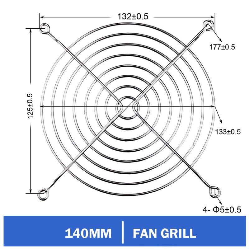 10 pçs/lote Gdstime 140mm Fan Grill Protector de Prata do Metal Protetor de Dedo Usado para 140 milímetros Fan