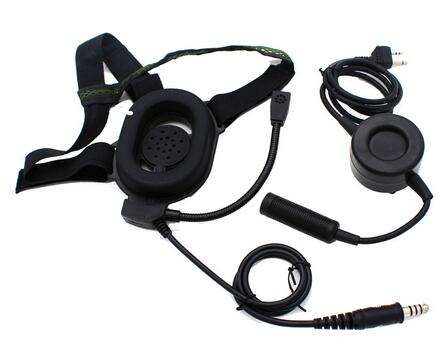 Radio Headset Earpiece Tactical Bowman Elite II Waterproof PTT For Midland 2 Pin Walkie Talkie G6 G7 GXT550 GXT650 LXT80 LXT enlarge