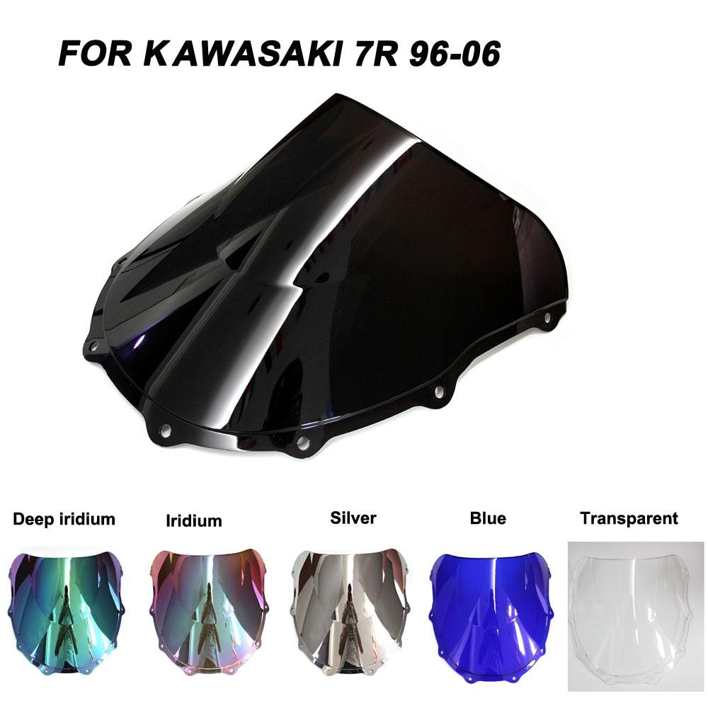 Motorcycle Windscreen Windshield ZX-7R 1996-2006 Screws Bolts Accessories For Kawasaki Ninja ZX7R Iridium Wind Deflectors