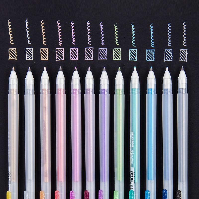 Sakura destaque forro esboço marcadores de tinta colorida gel caneta para desenho design comic manga pintura suprimentos correção caneta