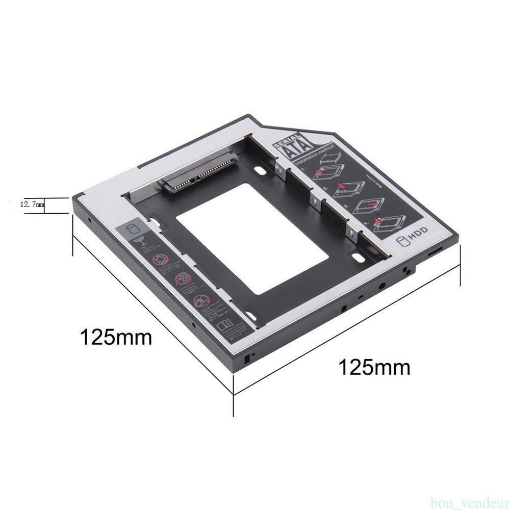12.7mm SATA HDD SSD Hard Drive Disk Caddy/bracket for Fujitsu Amilo Li 3710 Li-3560 Li-3910 Celsius H265 H700 H710 H910 H920