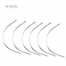 Aiguilles de TYPE C incurvées de 12 pièces   Fil à tisser/aiguilles à coudre pour Extension de cheveux, petit paquet ordinaire de 9cm de Long