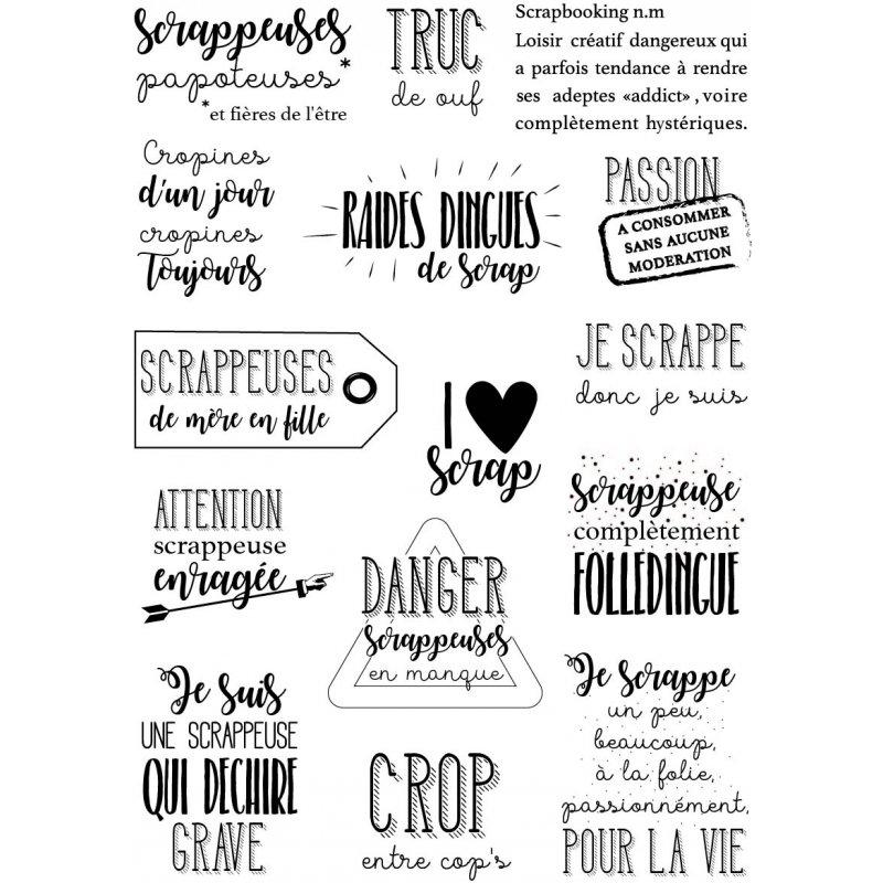 Французские слова прозрачный силиконовый штамп/печать для DIY скрапбукинга/фотоальбома декоративные прозрачные штампы листы F1116