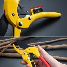 1pc 3-Stage Adjustable Hand Pruner Gardening Scissors Branch Cutters Trimmers 8-Inch SK-5 HCS Ratchet Garden Pruning Shears