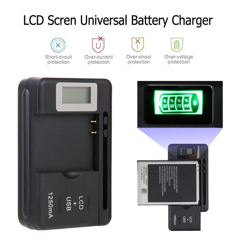 Cargador Universal de batería móvil Pantalla indicadora LCD teléfono celular cargador de puerto USB para BlackBerry para Casio para HTC