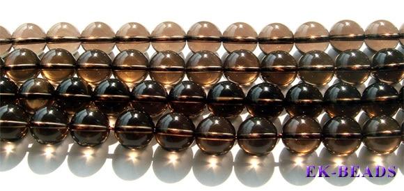 """Desconto Atacado Natural AAA Genuine Smoky Quartz Cristal Chá Suave Rodada Beads Pedra Solta 3-20mm 15"""" 1080"""