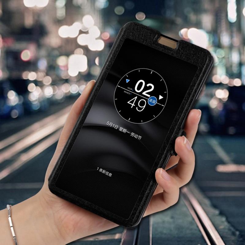 Ventana de vista funda de teléfono para zte Nubia M2 Lite NX551J NX573J N1 NX541J NX597J flip stand capa para zte N2 NX575J fundas