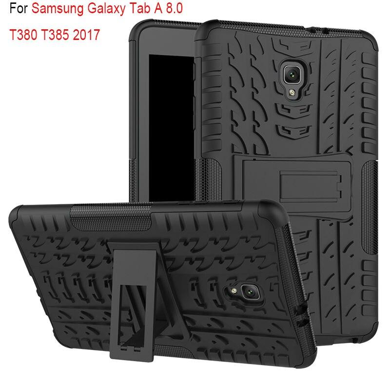 para Samsung Galaxy Robusto de Borracha à Prova de Choque 2 em 1 T385 8 Polegada Tablet Case Capa Heavy Duty Híbrido Durável f Tab um A2s 8.0 T380