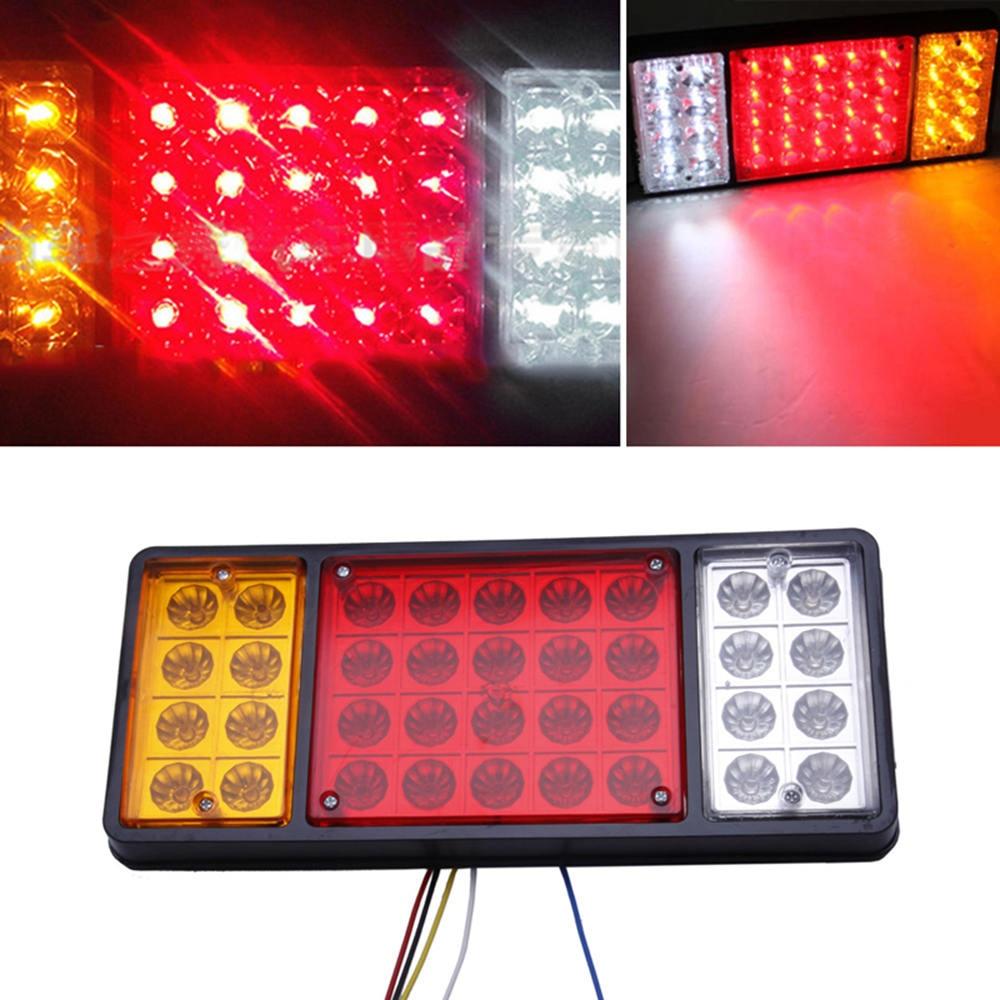 Luces LED de freno de luz trasera 12V 36, luces indicadoras, remolques, camionetas, caravanas