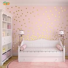 55 шт радужные Многоцветные Diy конфетти в горошек круги наклейки на стену для гостиной спальни Виниловые ПВХ Наклейки на стены домашний декор