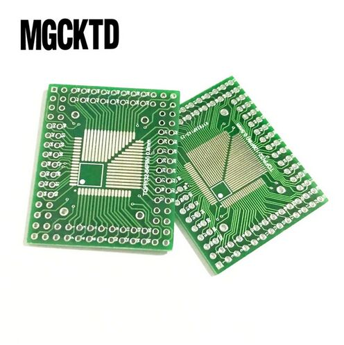 5 uds QFP/FQFP/LQFP TQFP32/TQFP44/TQFP64/TQFP80 TQFP100 0,5 MM zócalo adaptador de circuito integrado de 0,8 MM/placa adaptadora/PCB