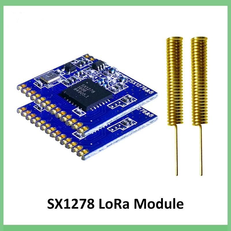 200 قطعة 433 ميجا هرتز RF لورا وحدة SX1278 PM1280 لمسافات طويلة الاتصالات استقبال الارسال SPI LoRa IOT + 2 قطعة 433 ميجا هرتز هوائي