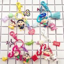 Leuke Japanse Anime Crayon Shin-chan Shinnosuke Nohara Pop Sleutelhanger voor Bag Charms Auto Sleutelhanger Gift Vrouwen Meisje Sieraden