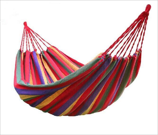 1 Juego con envío gratuito portátil de 150 kg de carga de jardín al aire libre hamaca colgar cama viajes de Camping Swing supervivencia de dormir al aire libre