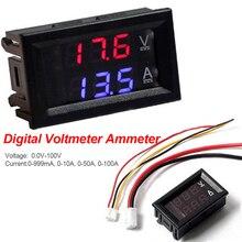 DC 100V 10A voltmètre numérique ampèremètre panneau tension courant mètre testeur 0.56