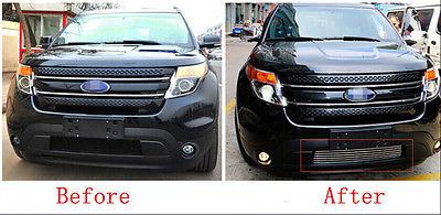 Metal Front Bottom Grill Grid Grille Trim 1pcs For Ford Explorer 2011 2012 2013 2014