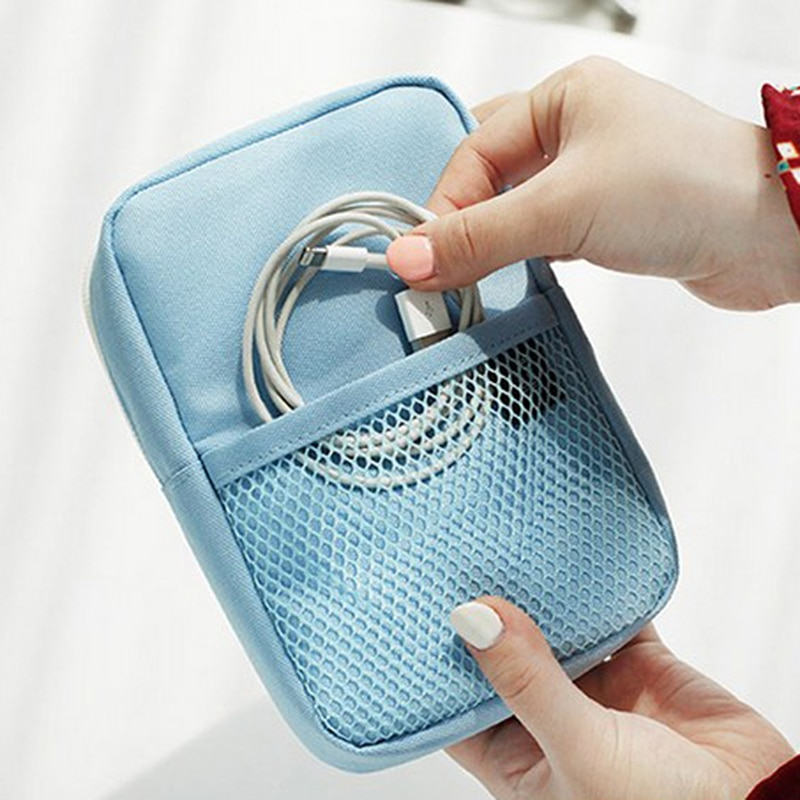 1 bolsa Digital portátil de datos, paquete de baterías portátiles, bolsa multifunción de viaje para hombres, accesorios, suministros, producto