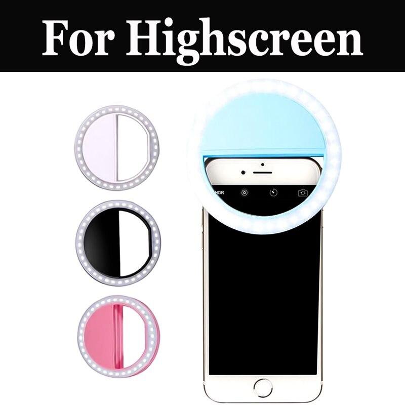 Venta caliente inteligente flash tipo Aro para selfies de luz para Highscreen Boost 3 Se fácil Pro L S Pro Xl Festival Pro Xl cinco Evo Max 2