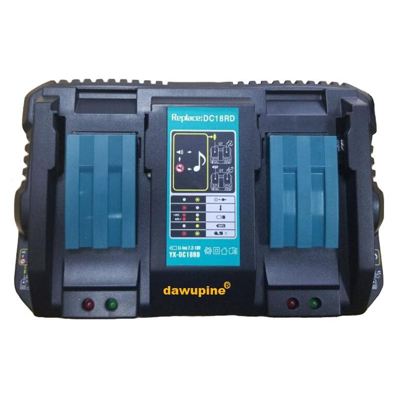 Dawupine-chargeur de batterie Li-ion Double, 4A, courant de chargement pour makita-14.4 V 18 V, outil électrique, Bl1430, DC18RC