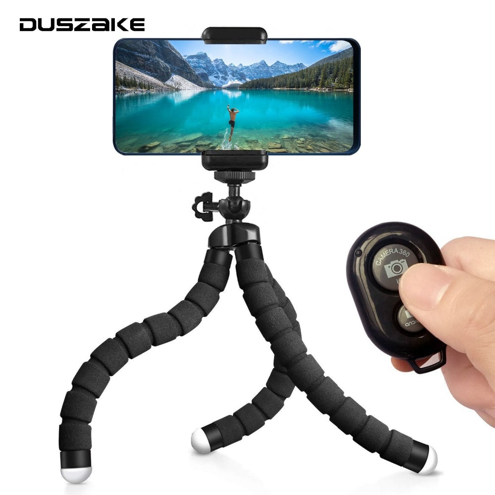 DUSZAKE TE01 Gorillapod מיני חצובה עבור טלפון מיני טלפון חצובה עבור iPhone Xiaomi טלפון Gorillapod Selfie מקל עבור Gopro מצלמה