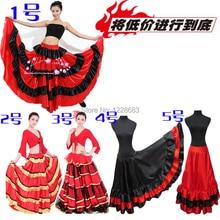 Femmes dames filles Discount noir rouge Flamengo Robe De Bal Faldas De Baile longue salle De Bal Latin Salsa Tango Flamenco Costumes