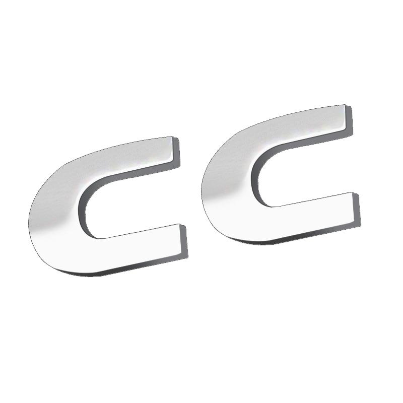 OEM coche trasero la tapa del tronco del cromo plata CC emblema etiqueta insignia del logotipo de VW CC ABS etiqueta