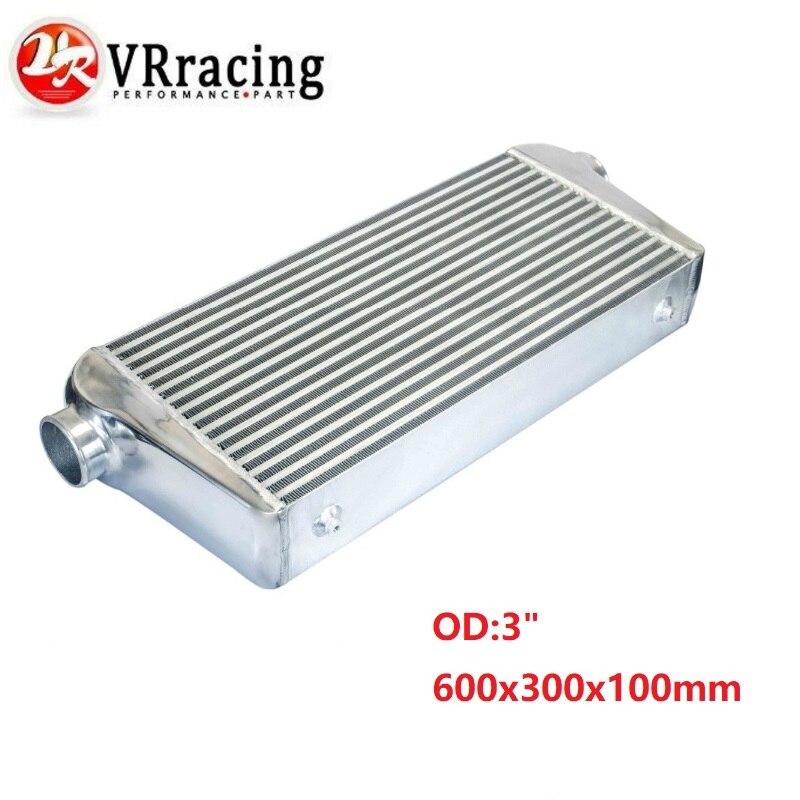 "VR - 600*300*100mm Universal Turbo Intercooler bar & placa OD = 3.0 ""Front Mount intercooler VR-IN817-30"