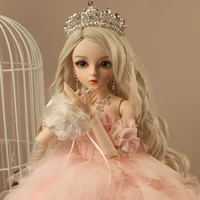 bjd 13ball jointed doll gifts for girl handpainted makeup fullset lolitaprincess doll with wedding dress cherry pink