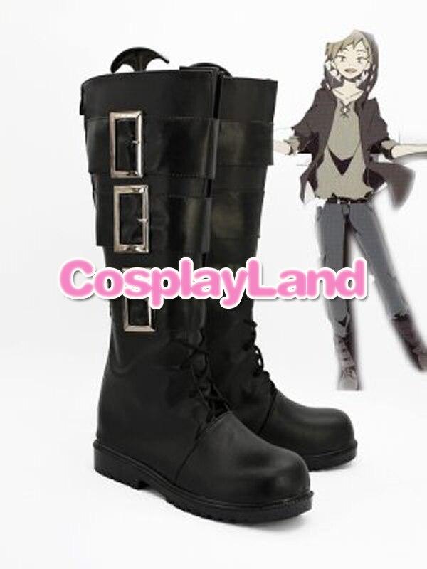 Personalizar botas Kagerou Project Cosplay Kano Syuuya Cosplay zapatos personalizados cualquier tamaño Anime botas de fiesta