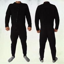 LIGHTWEIGHT THERMAL UNDERSUIT FLEECE DRYSUIT Full body WARM Fleece, front zip.BLACK