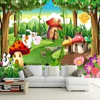 custom 3d photo wallpaper children room bedroom cartoon forest house background decoration painting wall mural papel de parede