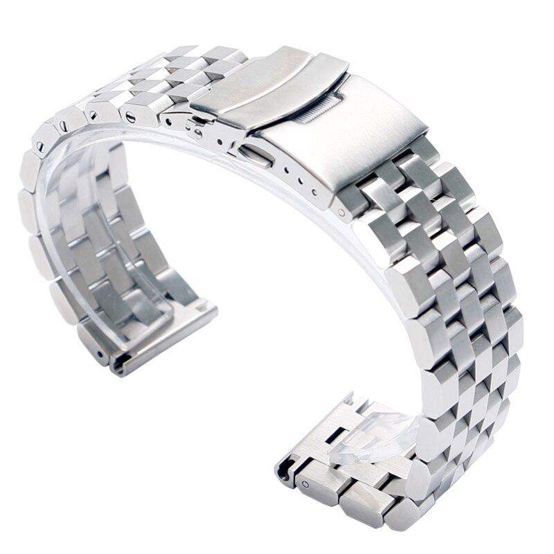 سوار شبكي من الفولاذ المقاوم للصدأ للرجال ، سوار ساعة رجالي ، 22 أو 20 مللي متر ، رائع ، GD0192
