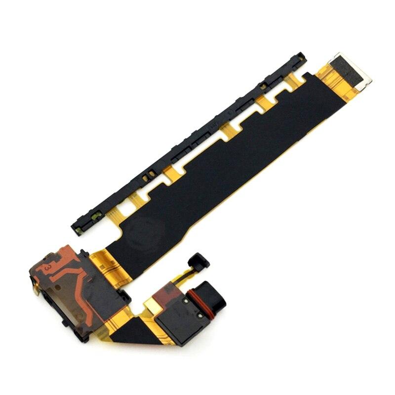 100% новое основное включение/выключение питания, громкость usb зарядный док-порт гибкий кабель для Sony Xperia Z4 Z3 + Z3 Plus E6553 E6533