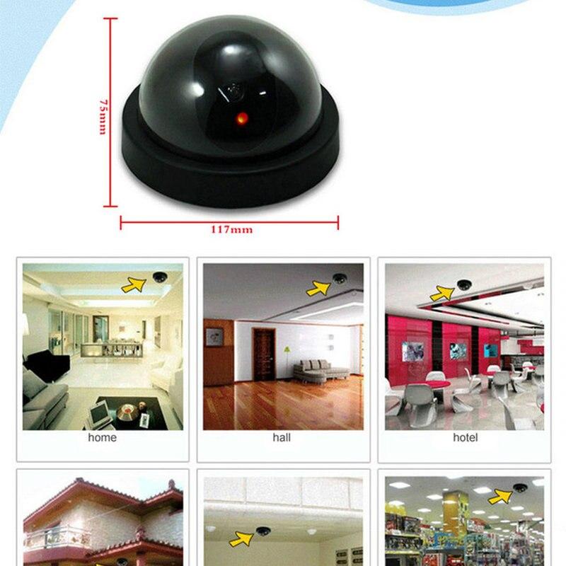 4 pcs Teto MINI Manequim Câmera de uso em casa anti roubo de vigilância CCTV IR Simulação Camera Falsa Bateria não incluem